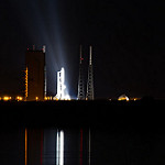 MUOS-3 Launch: Atlas V on the launchpad