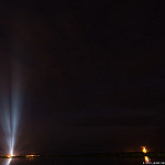 MUOS-3 Launch: Xenon lights mark the location of SLC-41