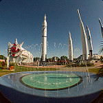 CRS-3 Scrub 1 Bill: Rocket Garden Fisheye