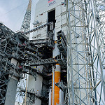 Jared: Delta IV / WGS-7: Delta IV nestled in the Mobile Service Tower