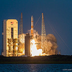 Jared: Delta IV / WGS-7: Liftoff, as seen from the NASA Causeway