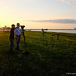 Jared: Delta IV / WGS-7: Sunset, Press, and the VAB from the NASA Causeway
