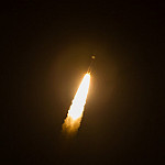 Jared: Atlas V / MUOS-4: Atlas V climbing to Orbit