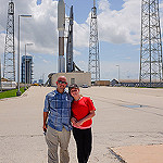 Jared: Atlas V / MUOS-4: Dawn & I at the launchpad