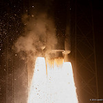 Jared: Atlas V / Morelos-3: Closeup of RD-180 and AJ-60A engines powering Atlas V to orbit.