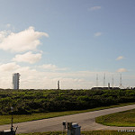 Jared: Atlas V / Morelos-3: Morelos-3 and Atlas V rolling out to the launchpad