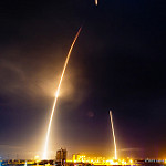 SpaceX Orbcomm-2 Mission: SpaceX Falcon 9 lifts off, first stage returns and lands.