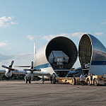 Super Guppy brings EM-1 capsule to KSC (Jared Haworth): Aero Spacelines Super Guppy Turbine