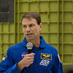 Orion EM-1 Spacecraft at Kennedy Space Center: Astronaut Stan Love