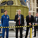Orion EM-1 Spacecraft at Kennedy Space Center: Stan Love, Scott Wilson, Mark Geyer and Mike Hawes, Orion program