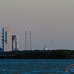 Atlas V / GPS IIF-12: Sunrise over Space Launch Complex 41