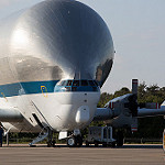 Super Guppy brings EM-1 capsule to KSC (Jared Haworth): Things are about to get... bulbous!