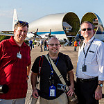 Super Guppy brings EM-1 capsule to KSC (Jared Haworth): We Report Space team photo