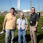 Falcon 9 / CRS-8 Launch: We Report Space team at Space Launch Complex 40