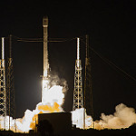 Falcon 9 / JCSAT-14 Launch: Falcon 9 by SpaceX with the JCSAT14 on top