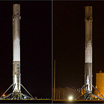 Falcon 9 / JCSAT-14 Return to Port: Two Falcons