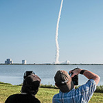 Atlas V / NROL-61 Launch (Jared Haworth): Watching (and photographing) the launch.