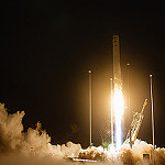 Antares / Cygnus OA-5 Launch (Jared Haworth): Antares has cleared the tower.