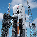 Delta IV / WGS-8 (Jared Haworth): Mobile Tower Rollback