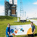 Delta IV Heavy / Parker Solar Probe (Bill and Mary Ellen Jelen): ParkerSolarProbeColor-15