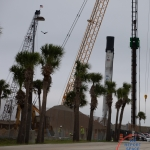 SpaceX Crew Dragon DM-1 (Bill Jelen): Cranes & Falcon