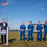 Falcon 9 / SpaceX Crew Dragon Demo-1 (Jared Haworth): NASA Administrator Jim Bridenstine addresses the press