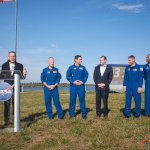 Falcon 9 / SpaceX Crew Dragon Demo-1 (Jared Haworth): KSC Director Bob Cabana introduces the astronauts assigned to Sp