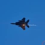 Wings Over Wayne 2019 Airshow: F-15 Strike Eagle Firing Flare