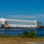 SLS Core Stage Pathfinder Arrives at KSC via Pegasus Barge: Pegasus Arrives