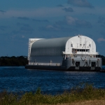 SLS Core Stage Pathfinder Arrives at KSC via Pegasus Barge: Pegasus Arrives at KSC