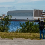 SLS Core Stage Pathfinder Arrives at KSC via Pegasus Barge: Two Tug Boats