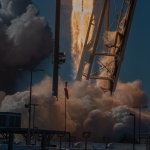 Antares / Cygnus NG-12 (Scott Schilke): Engine Photo of Anatares 230 NG-12 from launch pad Wallops Islan