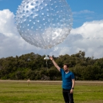 February 20th 2020 45th Weather Squadron Forecasting / Weather Balloon Launch - Scott Schilke: Mylar weather balloon launched for customers only by the weather