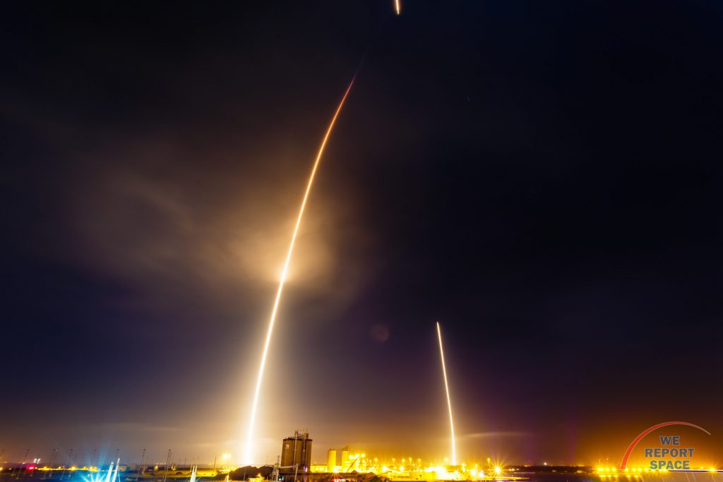 SpaceX Falcon 9 launches and lands at Cape Canaveral Air Force Station