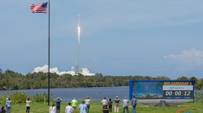 BulgariaSat-1 launches from KSC LC-39A.  Photo credit: Michael Seeley / We Report Space