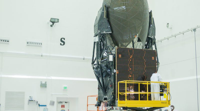 The spacecraft arrived at Astrotech in Titusville on June 23, 2017. Photo credit: Bill Jelen / We Report Space