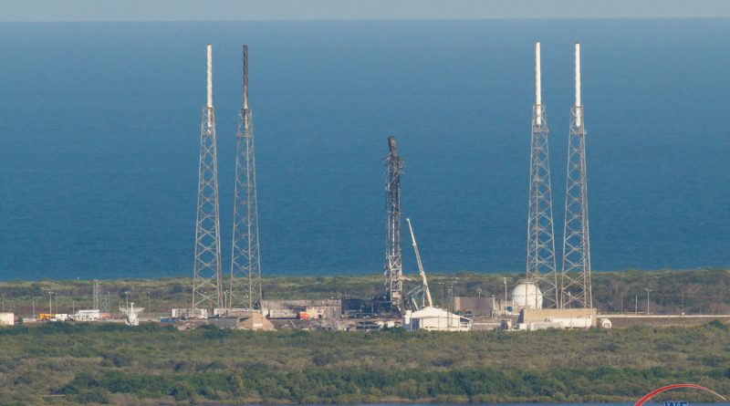 Aerial view of SLC-40 following the AMOS-6 anomaly.  Photo credit: Jared Haworth / We Report Space