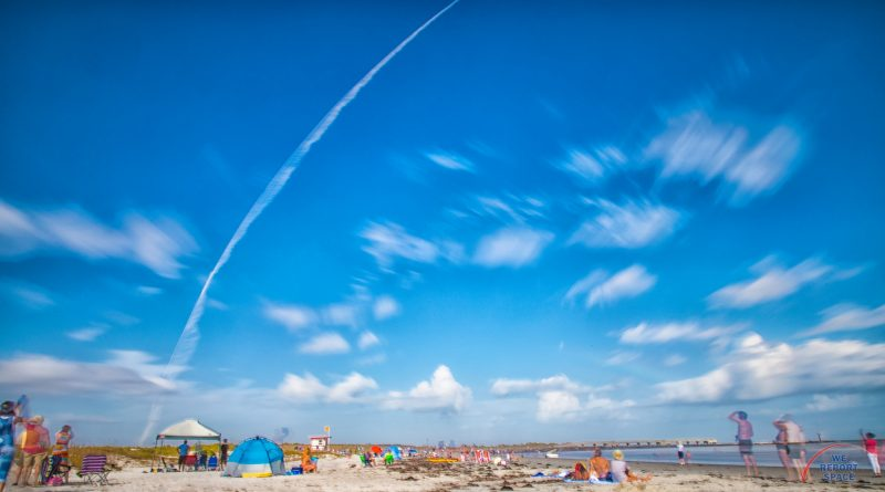 View of a rocket from Jetty Park. Photo: Michael Seeley / We Report Space