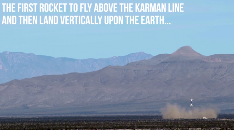 "Still from Blue Origin's ""Launch.  Land.  Repeat."" video."
