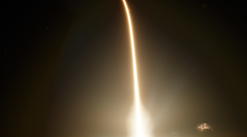 SpaceX's Falcon 9 powers the Crew Dragon on its journey to orbit.  Photo Credit: Jared Haworth / We Report Space
