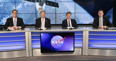 A prelaunch news conference for SpaceX's 17th Commercial Resupply Services (CRS-17) mission to the International Space Station for NASA is held at the agency's Kennedy Space Center in Florida on May 2, 2019. Photo credit: NASA/Kim Shiflett