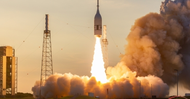 Lift-off at CCAFS Launch Complex 46. Photo: Michael Seeley.