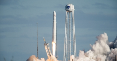 Antares lifts off from Wallops Island on Saturday, February 15, 2020, carrying Cygnus NG-13 to the International Space Station, along with more than 3,500kg of supplies and scientific experiments.  Photo credit: Contributor photo, no reuse permitted.