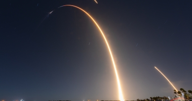 SpaceX's Falcon 9 rocket launches the 20th Dragon mission to the International Space Station on March 6, 2020.  Photo credit: Michael Seeley / We Report Space