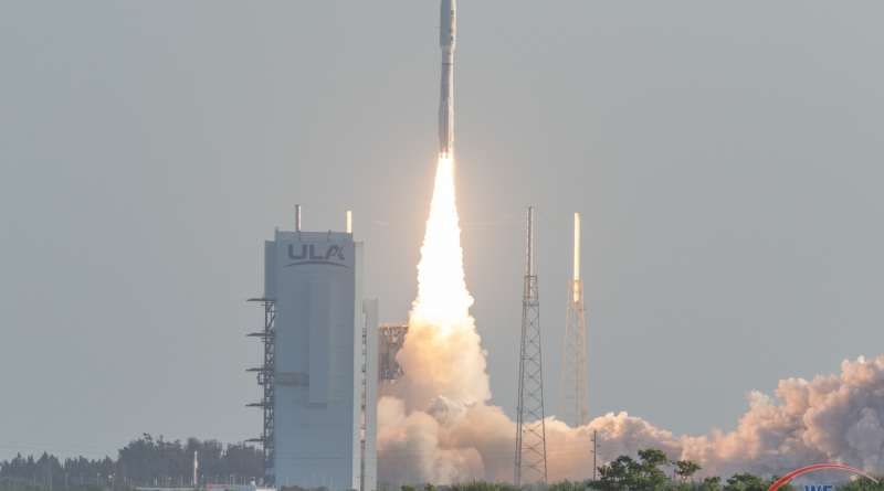United Launch Alliance's Atlas V rocket lifts off, carrying the Mars Perseverance Rover on a seven-month flight to the Red Planet.  Photo credit: Michael Seeley / We Report Space