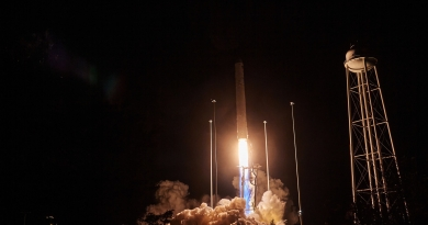 Northrop Grumman's Antares rocket and Cygnus spacecraft lift off from Launchpad 0A at the Mid-Atlantic Regional Spaceport in Virginia on October 2, 2020.  Photo credit: Jared Haworth / We Report Space