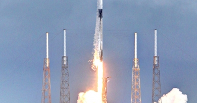 SpaceX's Falcon 9 rocket lifts off from Cape Canaveral Space Force Station, bearing one shy of one gross satellites to orbit.  Photo credit: Michael Howard / We Report Space